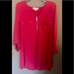 Michael Kors pink 1X TUNIC plus size
